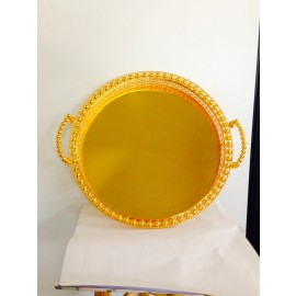 Golden Serving Dish